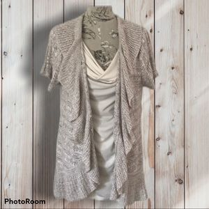 Style & Co Tan Sweater Cardigan 1X
